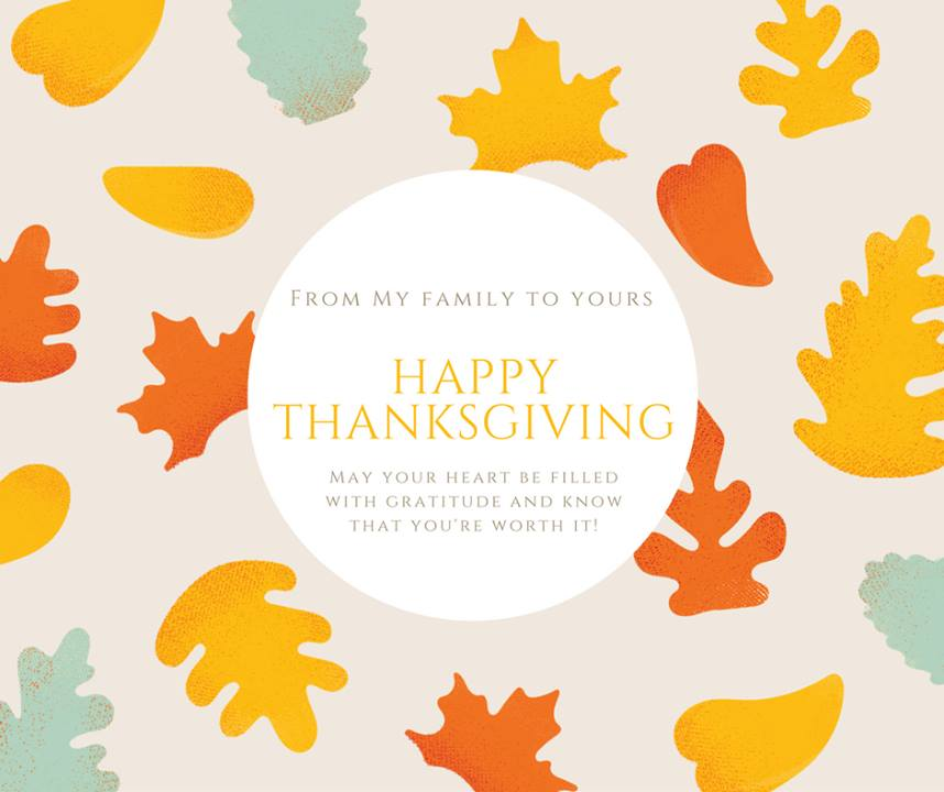 Happy Thanksgiving! I'm so grateful for you and for so many th…